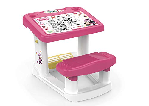 Chicos Minnie Mi Primer Pupitre Banco Scuola, Plastica, Multicolore, 57.5 X 72.5 X 49 cm