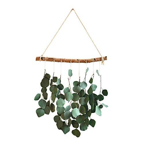 Futihing Hojas de eucalipto de seda artificial para colgar en la pared, arco, telón de fondo, decoración de pared para colgar hojas de eucalipto, hojas colgantes para el hogar pared puerta