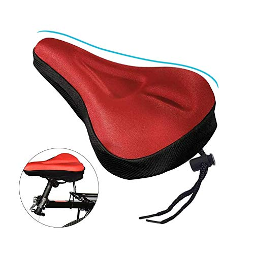 MUTOCAR Gel Bicycle seat Cover, The Best Waterproof Bicycle seat Cover, Gel Bicycle seat Cover, Suitable for Mountain Bike and City Road Bike Bicycle (red)