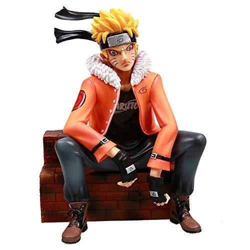 N / A Tendencia Sofá Modelo Snakeman Lufei Naruto Naruto Dragon Ball Goku Adornos del Chasis del Segundo Elemento-Naruto_Height 22cm Regalo Creativo Modelo De Regalo Decoracion De Escritorio
