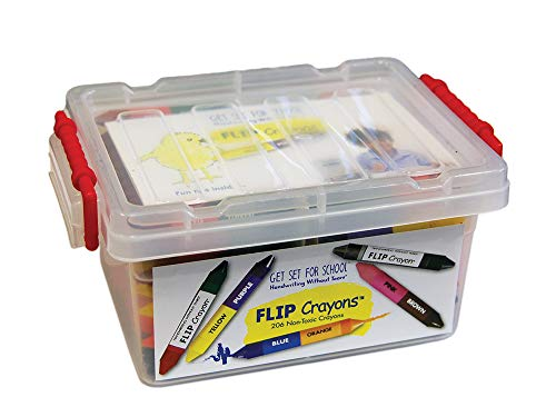 Learning Without Tears FLIP Crayons- Get Set for School and Handwriting Without Tears- Pre-K and K, Fine Motor Skills, Writing, Drawing, Coloring- For School or Home Use