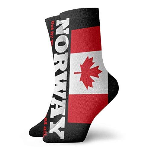 N/A Business Socken,Anzug-Socken,High Performance Tennissocken,Sport/Sneaker Socken,Norwegische Flagge Kanada Flagge Feuchtigkeitskontrolle Laufsocken Langlebige Atmungsaktive Trainingssocken