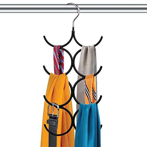 Práctica Percha múltiple para Colgar Accesorios, Cinturones, Corbatas y más – Corbatero Organizador de armarios con 8 Ganchos – Organizador de Ropa para Colgar en el Placard