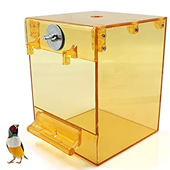 Baignoire d'Oiseau, Oiseau Baignoire, Baignoire pour Perroquet pour Animal Domestique Accessoires de Cage pour Oiseau Miroir de Bain Boîte de Douche Cage pour Petit Oiseau Perroquet Myna Moineaux