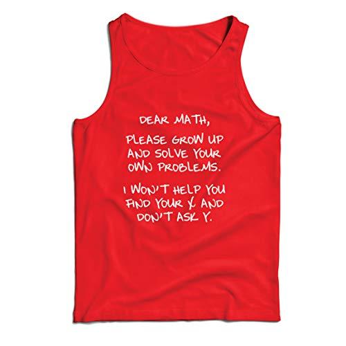 lepni.me Camisetas de Tirantes para Hombre Divertido Querido Matemáticas Álgebra Humor Nerd Amante de Las Matemáticas Regalo