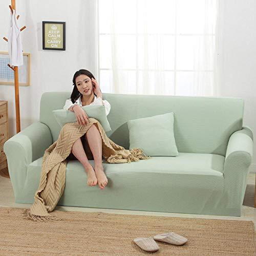 HXTSWGS Funda de sofá elástica Jacquard,Funda elástica para sofá, Funda para sofá de Sala, Funda para Muebles elástica-Matcha Green_190-230cm