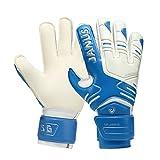 YGLONG Guantes de portero guantes de portero de látex para proteger los dedos, guantes de portero, guantes de portero, guantes de portero, guantes de portero para niños (color blanco, azul, tamaño: 7)
