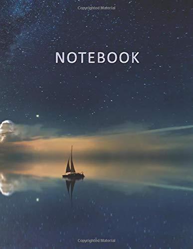 Notebook: Quaderno per appunti con 100 pagine bianche e numerate – Elegante copertina con un bellissimo Cielo Stellato riflesso sull'Oceano – Misura ... Doddles, Schizzi, Disegni, Note, Memorie