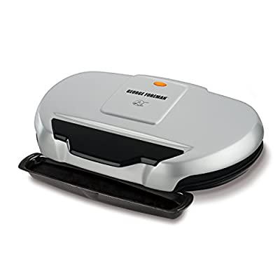 George Foreman 9-Serving Classic Plate Grill, Silver