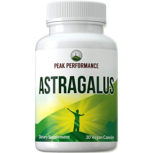 Astragalus Root Vegan Capsules Made with Organic Astragalus 10:1 Extract. Natural Supplement from Astragalus Propinquus Membranaceus Root (Huang Qi). Plant Based Herb Pills, Complex, Supplements