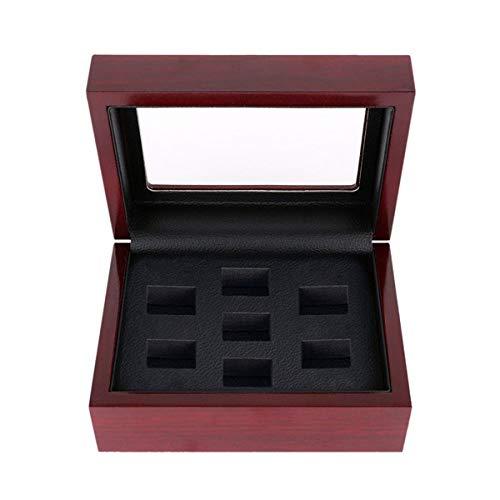 Heqing Joyeros, Madera Maciza Cuero De La PU Dedo Anular Poroso Fijar La Caja De Encima Cajas De Joyas (Color : A-7, Size : 12cm×16cm×7cm)