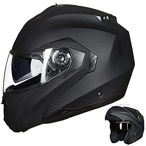 ILM Motorcycle Helmets for Adults Dual Visor Enlarged Air Vents Modular Full Face Cascos para Motos...