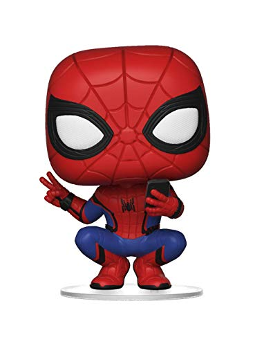 Marvel- Figurines Pop Vinyl Far from Home: Spider-Man (Hero Suit) Collectible Figure, 39403, Multi