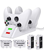 ESYWEN Controller Charger for Xbox one, Controller Charging Station Compatible with Xbox One/X/S/Elite, Dual Charging Dock with 2 x 1200mAh Rechargeable Battery Packs-Upgraded
