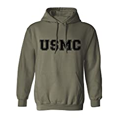 Military Style Physical Training Hooded Sweatshirt Heavy 7.75 ounce fabric Double-needle stitching Cover seamed neck; shoulder-to-shoulder tape Officially licensed by the USMC