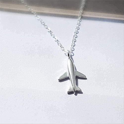 NC66 Collar con Colgante de Mujer con Elegante y Lindo Colgante de avión Collar con Encanto de Personalidad clásica