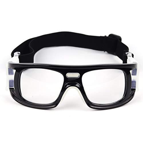 Yopria Basketballbrille Fußball Sportbrille Outdoor Sport Basketball Brille, verstellbare elastisch gewickelte Schutzbrille Basketball Fußballbrille YR21001