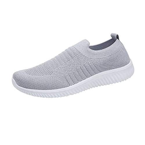 DAIFINEY Damen Freizeitschuh Sneaker Mesh Leichte Modische Turnschuhe Freizeit Atmungsaktiv Sportlicher Trainingsschuh Sportschuhe Laufschuhe(5-Grau/Gray,39)