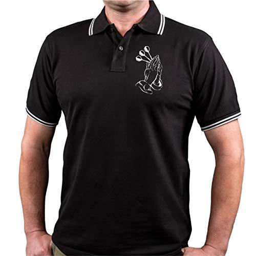 Männer und Herren Polo Shirt Dart Darten Götter Spielen Darts (mit Rückendruck)