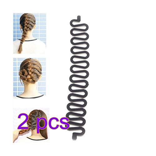 Magic Hair Clip Braider Braid Twist Plait Stylist Queue Haare flechten Werkzeughalter Roller DIY Brötchen Hersteller 2 Stück Friseurwerkzeuge