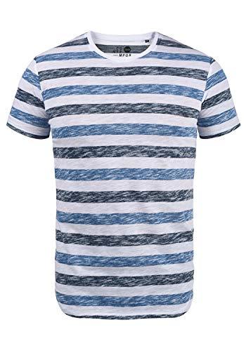 !Solid TET Herren T-Shirt Kurzarm Shirt Mit Streifen Und Rundhalsausschnitt, Größe:M, Farbe:Strong Blue (1531)