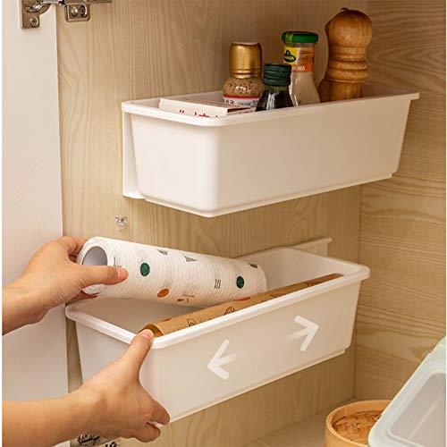 Wuudi Gabinete extraíble, organizador de gabinete debajo del fregadero, cajón deslizante para armario o cocina, 1 piezas, (blanco)
