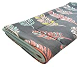 Small Pets and Company Guinea Pig Fleece Cage Liner  Fleece Guinea Pig Bedding  Midwest, C&C, Corner Pad (Midwest, Feathers on Gray)