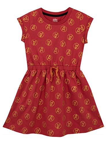 Marvel Mädchen Avengers Kleid Rot 134