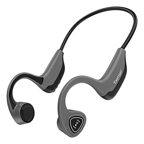 Bone Conduction Bluetooth Headset, 8GB MP3 Music Player, Open Ear for Running, Walking, Sports, Fitness (Grey)