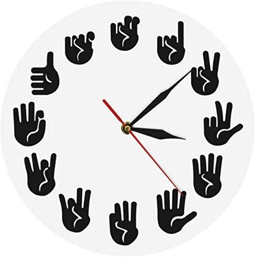 Reloj de pared de tictac Silent Silent Operado de batería Reloj de pared Artes marciales Club Moderno Mural Decoración de la pared Fighting Sports Kung Fu Exclusive Wall Clock Watch Calidad Cuarzo Swe