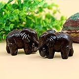 Homyl Asiatische Glückliche Glückselefanten Holzelefant Elefant Figur Holzfigur Tischdeko Geschenk - 8