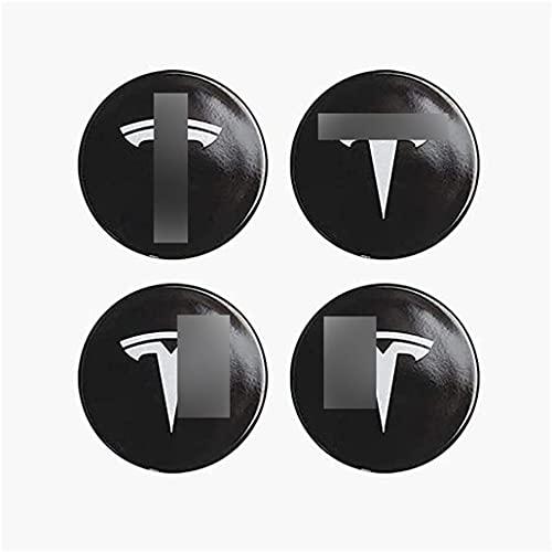 4 Piezas De AleaciÓN Tapas Centrales Para Llantas Pegatina para Tesla Model X Model S Model 3 56MM, Personalidad Del Coche Accesorios De Estilo De Reajuste