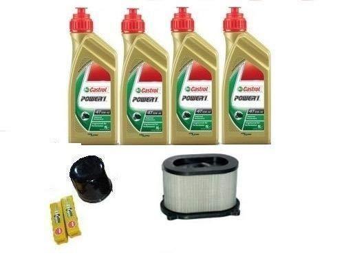 MGM Kit de révision pour Suzuki SV 650 99 02 huile Castrol 15W50 filtre à huile air bougies