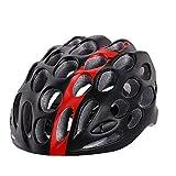 kyman Casco de Bicicleta, Resistencia Ciclo al Aire Libre del Deporte del Casco de montaña Bicicleta de Carretera Moldeado integralmente Casco Ultraligero Casco de la Bici de Impacto (Color: Negro)