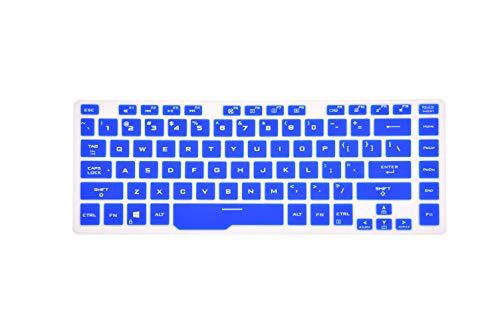 LEZE - Tastatur-Schutzhülle, kompatibel mit Asus ROG Zephyrus GU502 GA502 GX502, ROG Strix Scar G531 Gaming-Laptop, Blau