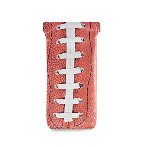 linomo - Bolsa de microfibra para gafas de sol con cordones de fútbol americano, bolsa de piel, funda para gafas y teléfono móvil