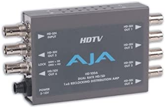 AJA HD10DA 1x6 HD/SD Dual Rate Reclocking Distribution Amplifier