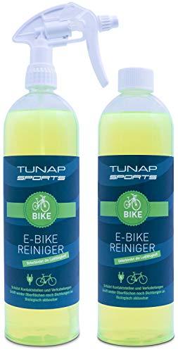 TUNAP SPORTS E-Bike Reiniger, 1000 ml Spray   für Elektrofahrräder - beseitigt Schmutz und schützt Kontakte vor Korrosion (2in1-Pack)