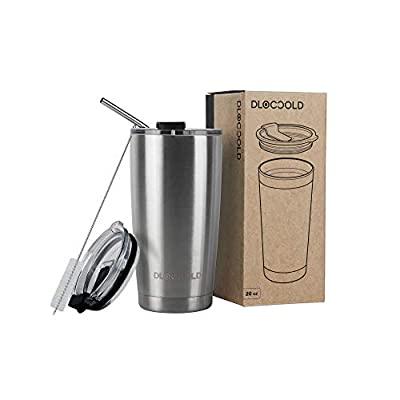 DLOCCOLD 20oz Tumbler Double Wall Stainless Ste...