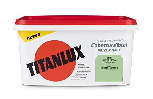 Titanlux - Pintura Plástica Cobertura Total Cubeta 4L (1015 Verde Brisa)