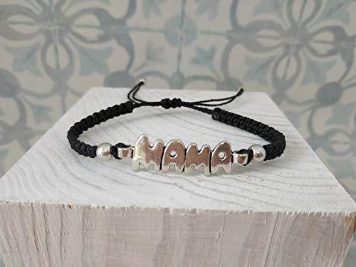 Pulsera mama, Regalo para MAMA, macrame, hecha a mano, artesanal,regalo dia de la madre, envio gratis