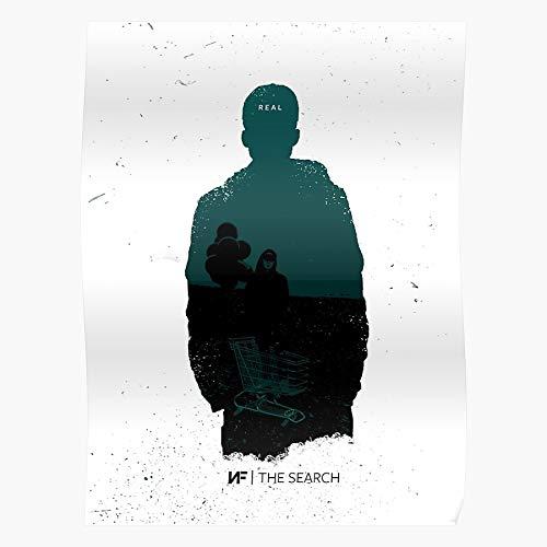 MADEWELL Music Christian Nf Nfrealmusic Rap Real Rapper Das eindrucksvollste und stilvollste Poster für Innendekoration, das derzeit erhältlich ist