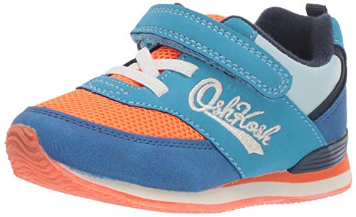 OshKosh B'Gosh Boys Lu Girl's Retro Athletic Sneaker, Orange, 4 M US Toddler
