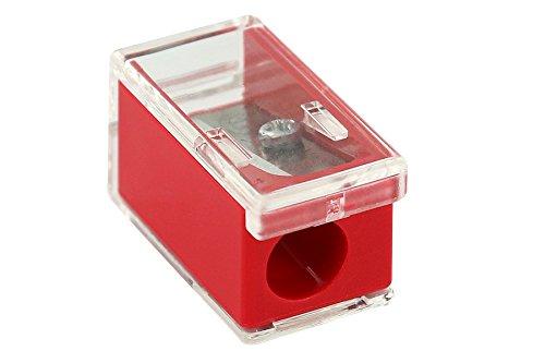 KUM AZ102.22.19-R - Kleiner Behälterspitzer Micro K1 R, rot, 1 Stück