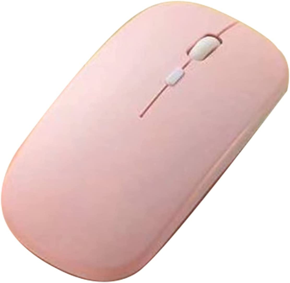 Mouse, Ergonomic Mini Wireless 800/1200/1600DPI Solid Color Mouse Keyboard Computer Accessory - Pink 1