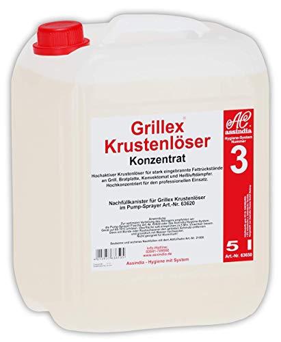 Assindia Grillex Krustenlöser Konzentrat Grillreiniger Ofenreiniger Backofenreiniger 5l