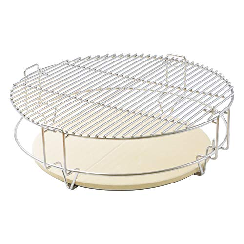 onlyfire Cooking System Fit for Large Big Green Egg, Kamado Joe Classic, Large Grill Dome, and Other Kamado Grill