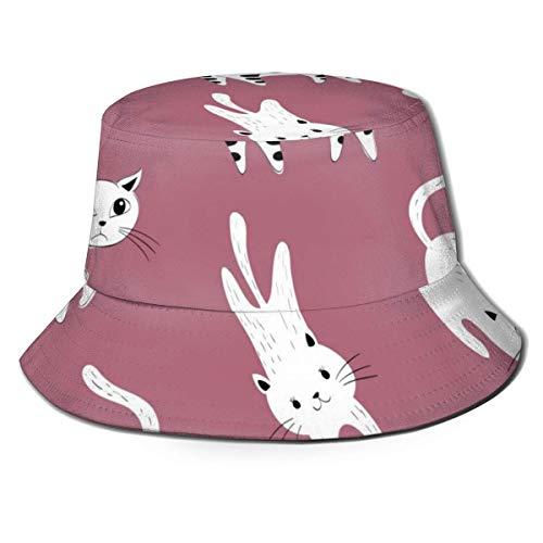 Lawenp Frauen Männer Packbare Eimer Hut Viele Cartoon Katzen Sommer Atmungsaktive...
