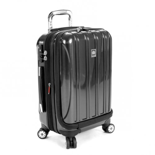 DELSEY Paris Helium Aero Hardside Expandable Luggage with Spinner Wheels, Black, Carry-On 19 Inch