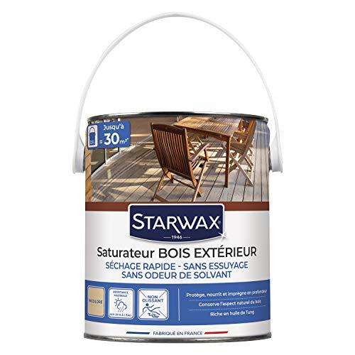 STARWAX 5491 Saturateur Application Facile pour Terrasses en Bois - Incolore - 2,5l, 2-methyli2-methylisothiazol-3 one1.2-benzisothiazol onesothiazol-3(2h)-One